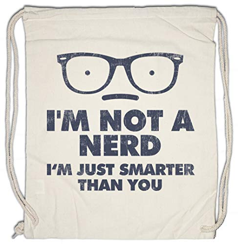 Urban Backwoods I'm Just Smarter Than You Hipster Bag Beutel Stofftasche Einkaufstasche