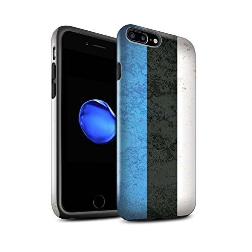 STUFF4 Glanz Harten Stoßfest Hülle / Case für Apple iPhone 7 / Sebia/Serbisch Muster / Europa Flagge Kollektion Estland/Estnisch