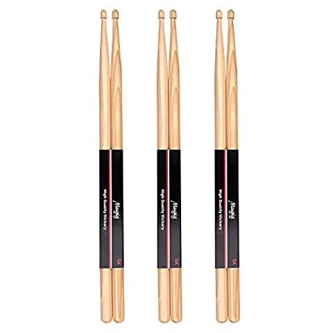 Mugig Trommelstöcke Drumsticks 5A von hochwertigem Hickory Länge 40.6cm
