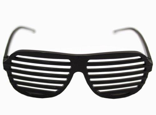 Preisvergleich Produktbild Shutter Shades Partybrille Atzen Style Brille mit Jalousien in verschiedenen Farben (Schwarz)