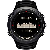 North Edge Herren Military Digital Sport Armbanduhr LED Hintergrundbeleuchtung Display Uhren wasserdicht Casual H?henmesser Kompass Stoppuhr Alarm Multifunktions Armbanduhr (Schwarz)