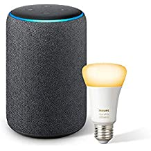 All-new Echo Plus (2nd Gen) Bundle with Philips Hue Bulb - Black