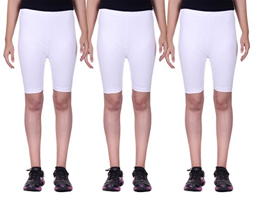 Belmarsh Stretchable Cycling Shorts - Pack of 3 (WHT_WHT_WHT_36)