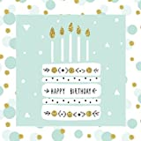 #6: Happy Birthday: Guest Book Gold Color-Filled Fluer de Lis End Pages Gifts for Women for Girls for Teens 26th 27th 28th 29th 31st 32nd 33rd 34th 36th ... Gifts for Women,Birthday Cake Toppers)