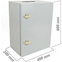 Cablematic - Caja de distribución eléctrica metálica con protección IP65 para fijación a pared 600x400x200mm