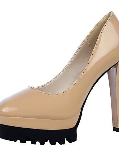 GS~LY Damen-High Heels-Kleid-Kunstleder-Stöckelabsatz-Absätze / Spitzschuh / Geschlossene Zehe-Schwarz / Rot / Weiß / Silber / Fuchsie / purple-us5.5 / eu36 / uk3.5 / cn35
