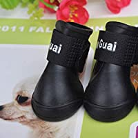 BlackUdragon Waterproof Durable Mini Pet Little Dog Teddy Rain Boots Shoes Small Pet Rainboots Anti-Slip Paws Booties