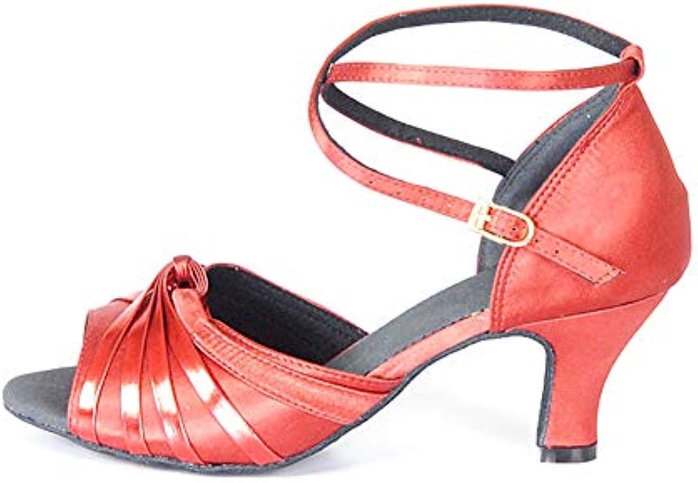 WHL.LL Da donna Raso Scarpe Scarpe Scarpe da ballo latino Antiscivolo traspirante Fondo morbido Scarpe da ballo da ballo Metallo... | Moderno Ed Elegante Nella Moda  | Uomini/Donne Scarpa  49a3e6