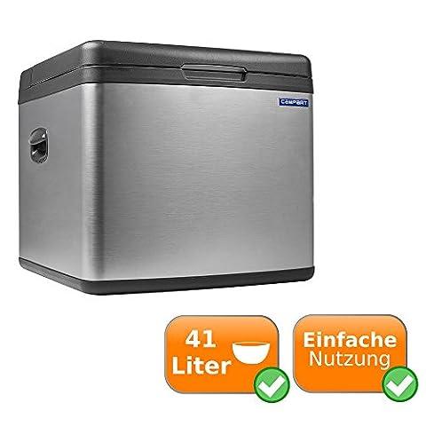 Geräuschlose Kühlbox mit Absorber System und möglichem Betrieb über Gas 240V Steckdose und 12V Zigarettenanzünder mit 41L Fassungsvermögen nur für Deutschland