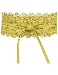2983ad9fb2a Uzinb Large Dentelle Corset Ceinture Femme Tie Auto Cinch Waistband  Ceintures pour Femmes Robe de mariée