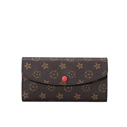 YZJLQML Borsa da Donna Abbigliamento da donnaJoker personalità Moda Lunga Multi-Funzione Portafoglio Stampa Multi-Card @Red