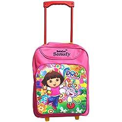 Batu Lee Princess Dora the Explorer 15 inch Pink Waterproof Trolley Hybrid Children's Backpack