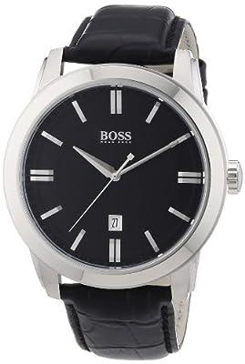 Hugo Boss 1512767 - Reloj analógico de cuarzo para hombre con correa de piel, color negro de Hugo Boss