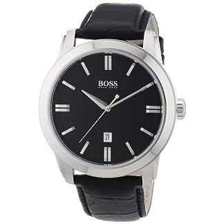 Hugo Boss 1512767 – Reloj analógico de Cuarzo para Hombre con Correa de Piel, Color Negro