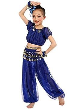 Ragazze Costumi da danza del ventre,OverDose Fatto a mano Egitto Danza Maniche corte Top + Pantalonis