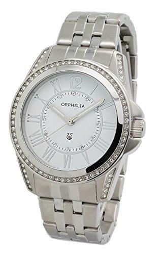 Damen-reloj analógico de cuarzo ORPHELIA acero 155-2703-18