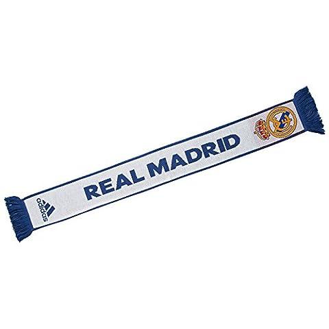 adidas Fc Real Madrid Domicile Écharpe Mixte Adulte, Crystal White/Raw Purple, FR : OSFM (Taille Fabricant : OSFM)