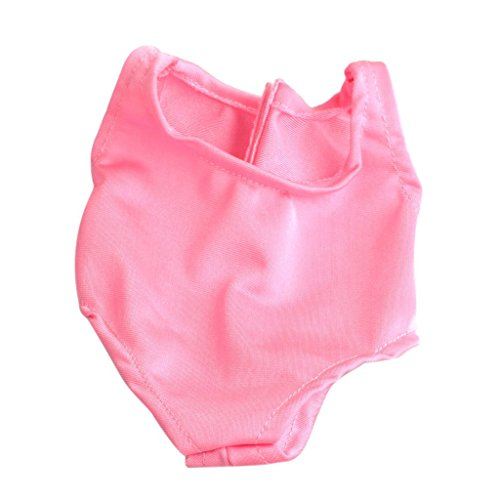 Imported One-piece Pink Swimsuit Swimwear Bikini Suit For 18 Inch American Girl Dolls