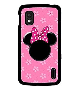 PrintDhaba Minnie Mouse D-1454 Back Case Cover for LG GOOGLE NEXUS 4 (Multi-Coloured)