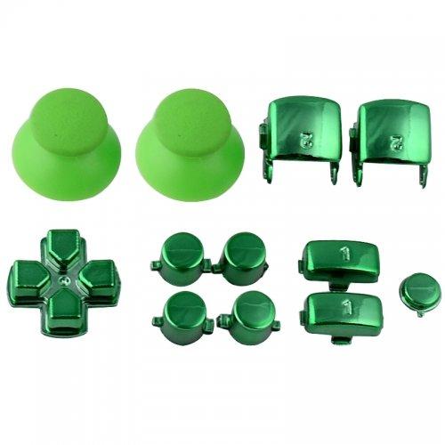 Sticks und Tasten Set/Mod Kit passend für PS3® Controller - chrom grün - Controller Ps3 Teile-kit