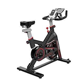 41z27Fuem9L. SS300  - Lcyy-Bike Bicycle Trainers Manual Adjustable Resistance 6 Kg Flywheel Cardio Workout With Multifunctional Display & Tablet Holder Adjustable Handlebars & Seat Height