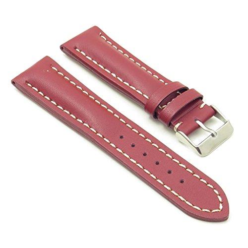 dassari Transit rot glatt-Leder Band Uhrenarmband für Breitling 22/2022mm