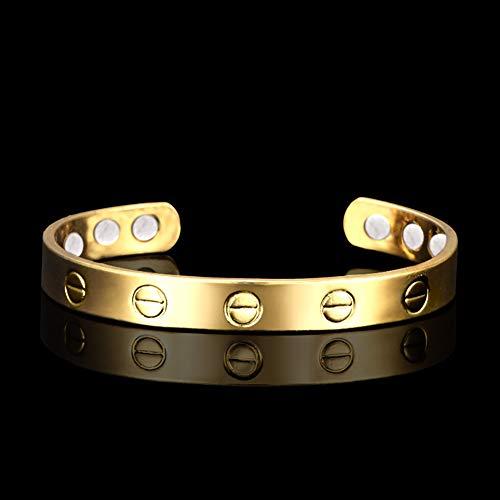 ZSML Sand Gold Magnetic Armband, Die Beste Natürliche Schmerzlinderungstherapie Durch Mnb Magnetische Armbänder Für Frauen