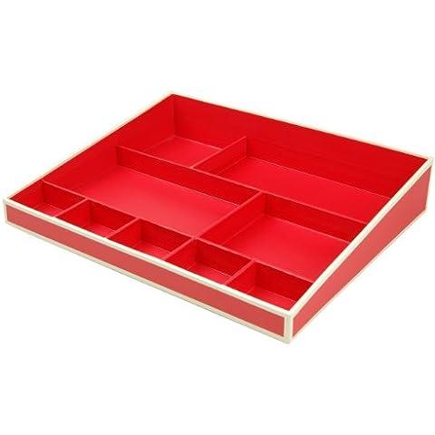 Desktop Organizer - rosso +++ Sistema di gestione per l'ufficio e la casa, ACCESSORIO per (Desktop Box)