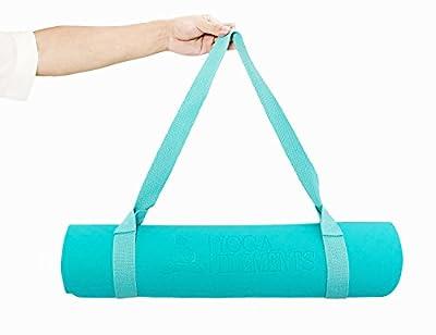 YogaElements Premium Yogamatte Blau TPE Schadstofffrei - Tragegurt - Ökologisch - Umweltfreundlich - Rutschfest 183cm x 61cm x 0,6 cm