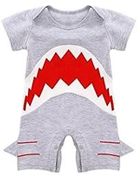 MIOIM® Moda Bebé Niño Niña Infantil Tiburón Manga Corta Bodysuit Romper Jumpsuit Traje Mono