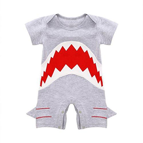 MIOIM® Baby Jungen Kurzarm Overall Body mit Karikatur Hai