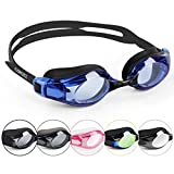 COPOZZ Swimming Goggles Come With Oversized Double Anti-Fog Coated Lenses And 3D Silicone