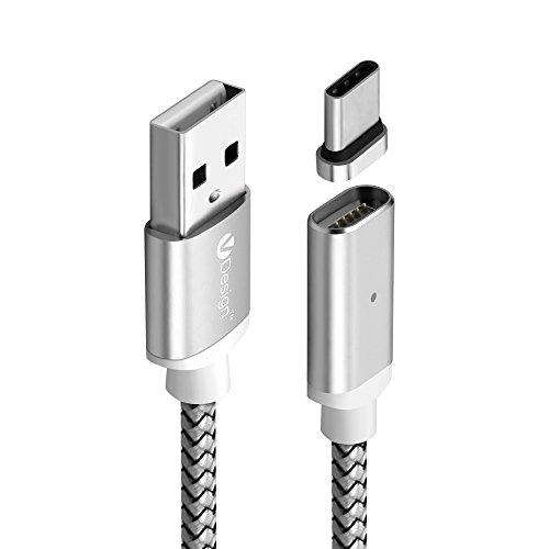 UGI USB Typ C Kabel, 1M USB-C zu USB 3.1A Lade- und Datenübertragungskabel für Chromebook Pixel 2015 und andere Typ-C unterstützte Geräte - Nylongeflecht mit Aluminiumstecker (übertragen Sie Bilder Auf Kindle)
