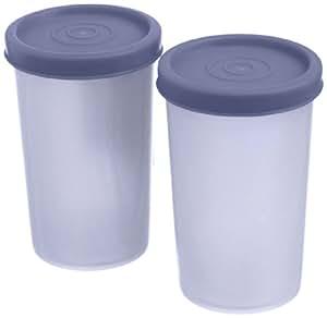 Signoraware Nano Round Big Container Set, 140ml, Set of 2, Mauve