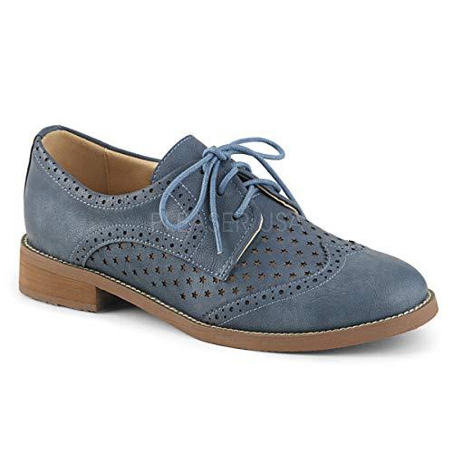 3bcae8dea27 Pin Up Couture HEPBURN-26 Stone Blue Faux Leather UK 7 (EU 40)