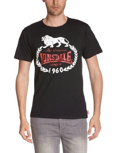 Lonsdale Herren Langarmshirt T-Shirt Original 1960 Slimfit schwarz (schwarz) Medium -