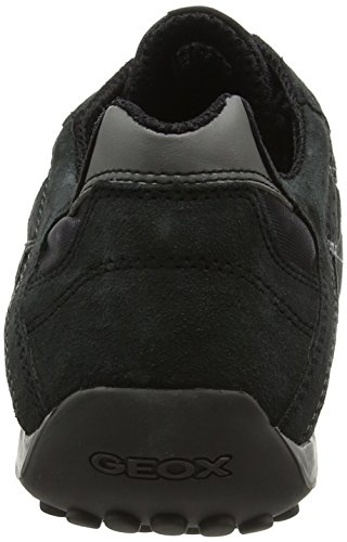 Geox Herren Uomo Snake H Low-Top Schwarz (Blackc9999)