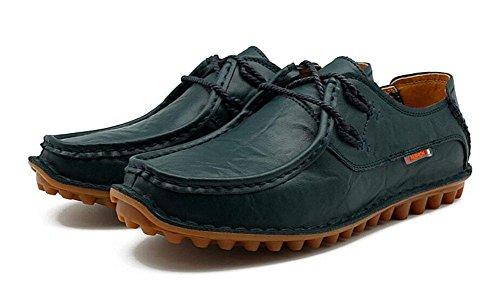 SHINIK Chaussures de sport pour homme Chaussures de sport en cuir non glissantes treasure blue