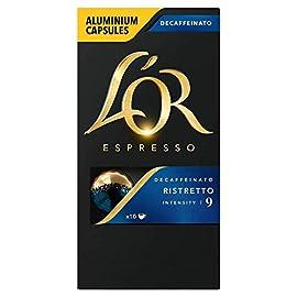L'OR Espresso Ristretto Decaf, Intensity 9 – Nespresso Compatible Coffee Capsules (10 capsules)