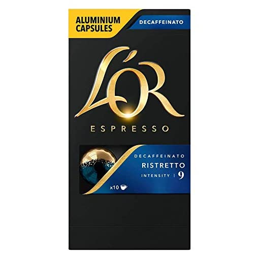 L'OR Espresso Ristretto Decaf, Intensity 9 – Nespresso Compatible Coffee Capsules, (10 capsules)