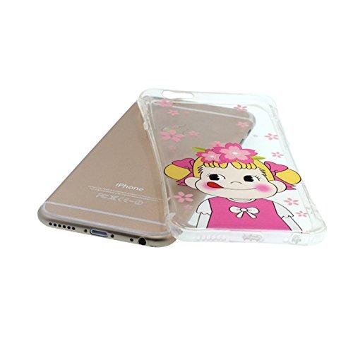 Apple iPhone 6 6S 4.7 inch Coque Housse de protection Case, Arc Côtés Très Mince Poids Léger Transparent Ultra soft Silicone Joli Peinture Style pour les filles color-1