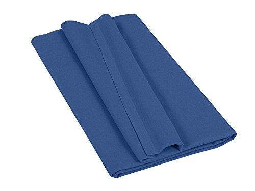 npluseins Betttuch - Haustuch - Bettlaken - aus 100% Baumwolle in 7 ausgesuchten Farben - Laken ohne Gummizug - Einheitsgröße von ca. 150 x 250 cm, royal