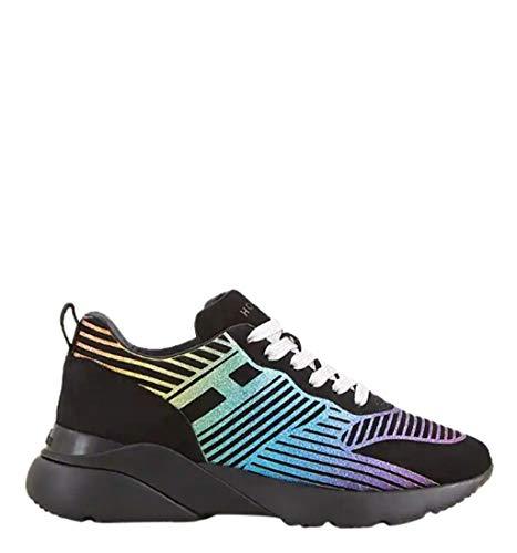 Hogan Rebel Women s Gyw3850az10cr0b999 Black Suede Sneakers b32880f532f