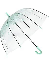 Paraguas de cereza claro paraguas creativa paraguas de sombrilla paraguas transparente de la bóveda Verde