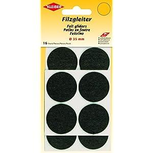 Kleiber Filzgleiter Ø=35mm, selbstklebend, Polyester, schwarz, 3,5 x 3,5 x 0,3 cm