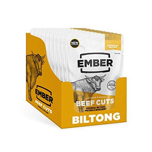 Ember Biltong - Beef Jerky Original - Proteinreicher Snack - Original (10 Stück) -