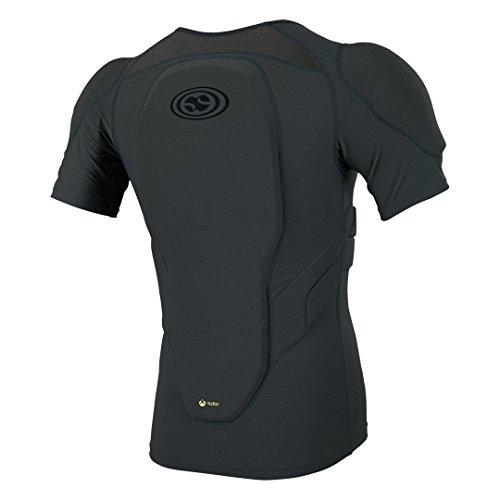 iXS Carve Jersey Protektor Oberkörper Schutz Shirt Trikot DH MTB BMX Mountain Bike Downhill, 482-510-6900-009, Farbe Grau - Kinder, Größe KM
