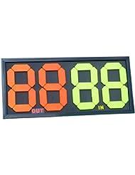 Fútbol Tarjeta de sustitución Manual Referencia instrucciones de doble cara pantalla 4-digits