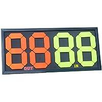 Display per sostituzione giocatore nel calcio, con manuale di istruzioni [lingua italiana non garantita], a doppio lato, combinazione di 4 cifre