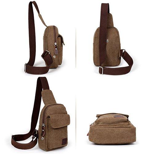 Gemini _ Mall® Sling Bag Brust Schulter Ungleichgewicht Rucksack Sack, Outdoor Rucksack Bike Umhängetasche, Tasche schwarz